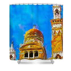 Shower Curtain featuring the painting Church Of Madonna Dell'orto by Greg Collins