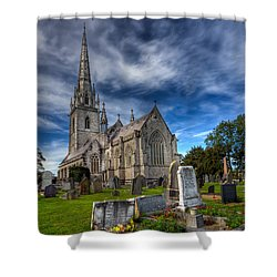 Church Of Marble Shower Curtain by Adrian Evans