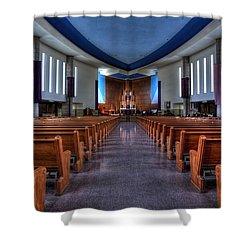 Church Of Saint Columba Shower Curtain by Amanda Stadther
