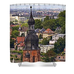 Church Of The Holy Spirit Steeple Shower Curtain by Marcia Colelli
