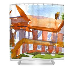 Church On Shepherd Street 4 Shower Curtain by Kip DeVore