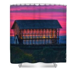 Church On The Hill Shower Curtain