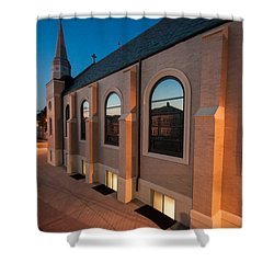 Church Reflections Shower Curtain
