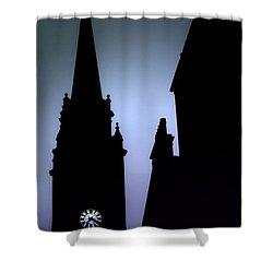 Church Spire At Dusk Shower Curtain by Craig B