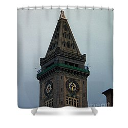 Shower Curtain featuring the photograph Church Steeple In Boston by Gena Weiser