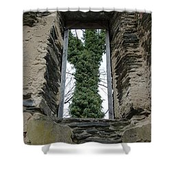 Church Window Shower Curtain by Jane Ford