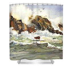 Churning Surf Shower Curtain