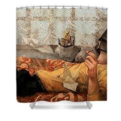 Cicogna Da Passeggio Shower Curtain by Guido Borelli
