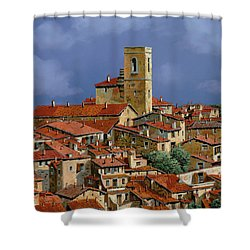 Cielo A Pecorelle Shower Curtain by Guido Borelli