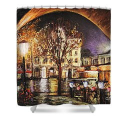 Cieszyn At Night Shower Curtain