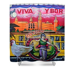 Cigar City Street Mural Shower Curtain by David Lee Thompson