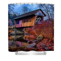 Cilleyville Covered Bridge Shower Curtain