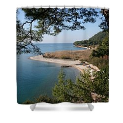 Shower Curtain featuring the photograph Cinar Beach by Tracey Harrington-Simpson