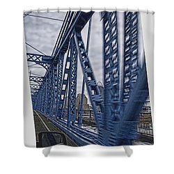 Cincinnati Bridge Shower Curtain