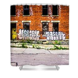 Cincinnati Glencoe Auburn Place Graffiti Photo Shower Curtain by Paul Velgos