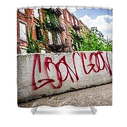 Cincinnati Glencoe Hole Graffiti Picture Shower Curtain by Paul Velgos