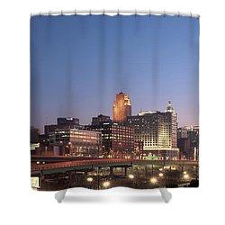 Cincinnati In Morning Twilight Shower Curtain