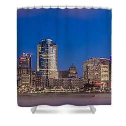 Cincinnati Morning Twilight Shower Curtain