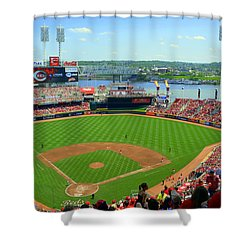 Cincinnati Reds Stadium Shower Curtain