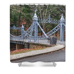 Cinderella Bridge Shower Curtain by Guy Whiteley