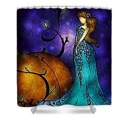 Cinderella Shower Curtain by Mandie Manzano