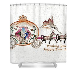 Cinderella Wedding Message Shower Curtain