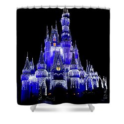 Cinderella's Castle Shower Curtain by Laurie Perry