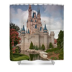 Cinderella's Enchanted Castle Shower Curtain by John Black