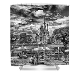Shower Curtain featuring the photograph Cinderella's Palace by Howard Salmon