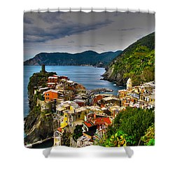 Cinque Terra Shower Curtain by David Gleeson