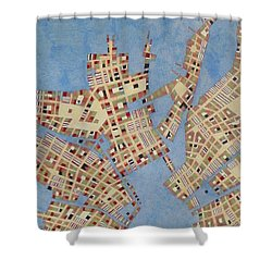 Cipher N. 13 Shower Curtain by Federico Cortese