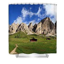 Shower Curtain featuring the photograph Cir Group - Gardena Pass by Antonio Scarpi