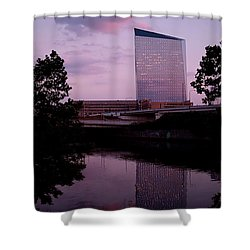 Cira Centre Shower Curtain by Rona Black