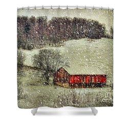Circa 1855 Shower Curtain by Lois Bryan