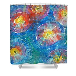Circle Burst Shower Curtain