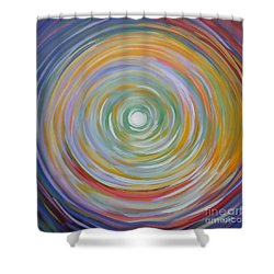 Circle In A Square Shower Curtain