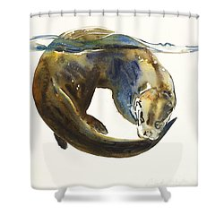 Circle Of Life Shower Curtain by Mark Adlington