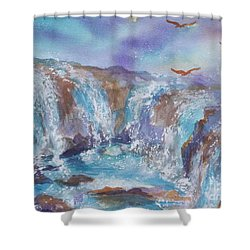 Circle Of Power Shower Curtain
