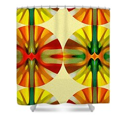 Circle Pattern 3 Shower Curtain by Amy Vangsgard