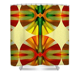 Circle Pattern 4 Shower Curtain by Amy Vangsgard