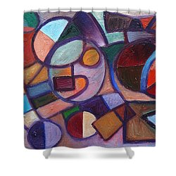 Circle Speaker Shower Curtain by Jason Williamson