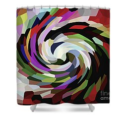 Circled Car Shower Curtain
