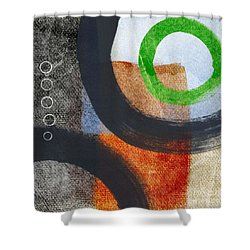 Circles 2 Shower Curtain by Linda Woods