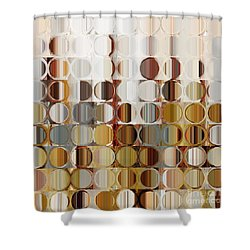 Circles And Squares 36. Modern Abstract Fine Art Shower Curtain