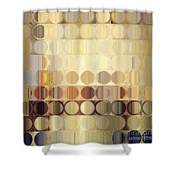 Circles And Squares 37. Modern Abstract Fine Art Shower Curtain by Mark Lawrence