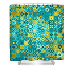 Circles And Squares 6. Modern Home Decor Art Shower Curtain