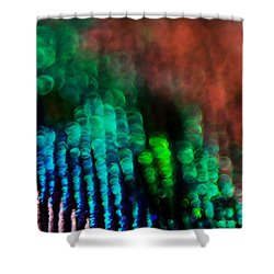 Circles Of Confusion Shower Curtain by Lisa Knechtel