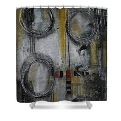 Shower Curtain featuring the painting Circles Of Life by Nicole Nadeau