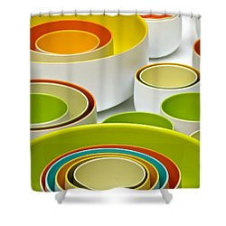 Shower Curtain featuring the photograph Circles Squared by Ira Shander