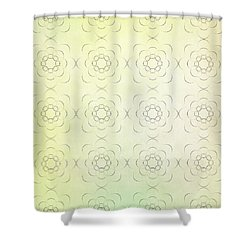 Circles Within Circles Flowers Upon Flowers - Textures Green Background Shower Curtain